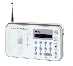 AKAI DR002A-521 ΑΣΠΡΟ ΡΑΔΙΟ USB ΦΟΡΗΤΟ