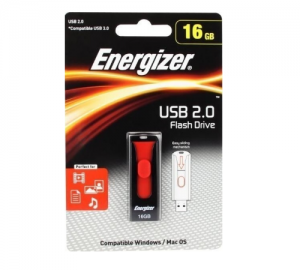 ENERGIZER FUSPLC016R USB 2.0 FLASH DRIVE 16GB