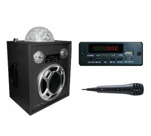 MANTA SPK205KR ΗΧΕΙΟ DISCO ΜΠΑΛΑ ΜΕ FM/AUX/SD/USB 10W