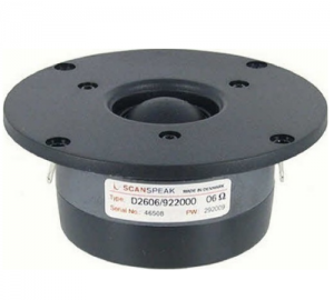 Scanspeak D2606/922000 dome tweeter 91,4db 6 Ohm