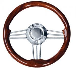 Τιμόνι με ξύλινη λαβή