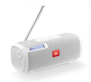 JBL Tuner Aδιάβροχο ηχείο Bluetooth με ράδιο, άσπρο