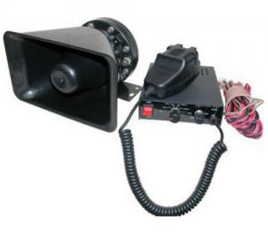 D.T. PAB120 Ενισχυτής με κόρνα, μικρόφωνο και σειρηνα 12V 80 - 120W.