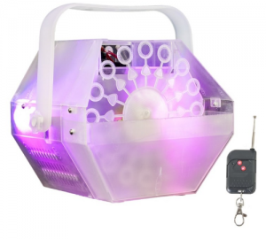 Ibiza LBM10-CLEAR  Συσκευή για φούσκες με διαφανές περίβλημα και φωτισμό με LED