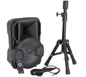 Party Mobile8 Set Σέτ karaoke ενεργού ηχείου & Βασης με μικρόφωνο