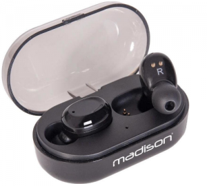 Madison ETWS150-BK Ασύρματα Ακουστικά Με Bluetooth 5.0 Σε Μαύρο Χρώμα