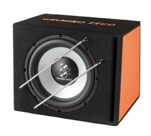 Ground Zero GZIB 300BR subwoofer σε καμπίνα