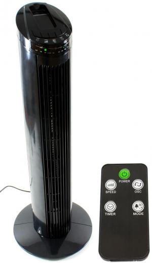 Teesa TSA8032.Ανεμιστήρας στήλη 50W με τηλεχειριστήριο 74cm Μαυρος