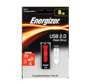 ENERGIZER FUSPLC008R USB 2.0 FLASH DRIVE 8GB