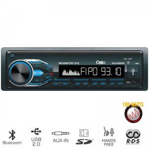 Osio ACO-4525UBT.Radio- Bluetooth- USB - SD και Aux-In