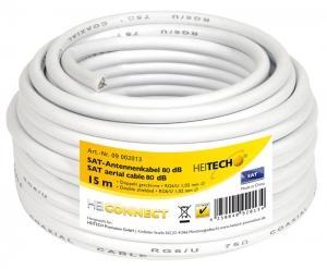 Heitech 09002013 Ομοαξονικό καλώδιο κεραίας 15 m