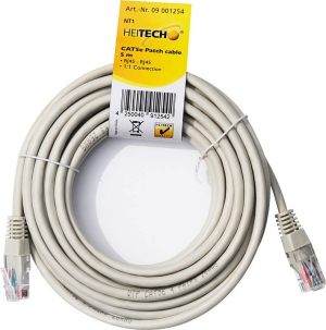 Heitech 09001254 Καλώδιο δικτύου Cat5e RJ45 σε RJ45 5 m
