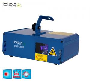 Ibiza 80B φωτιστικό λέιζερ 80mw μπλε.