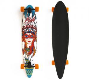 Fish Pin-Tail 41'' Squaw Ξύλινη Σανίδα Skateboard Longboard