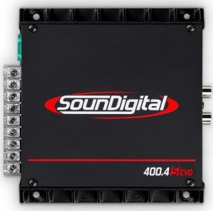 SounDigital 400.4S EVO Ενισχυτης Μινι 4x100w-RMS-2Ω