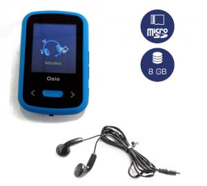 Osio SRM-9280B (8GB) Mp4/Mp3 player μπλέ