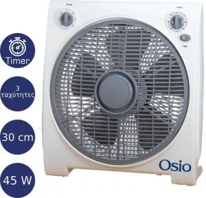 Osio EFB-4020 Box Fan Ανεμιστήρας με χρονόμετρο 30 cm (12″) 45 W
