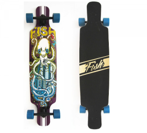 Fish Twin-Tip 41'' Octapus Fish Ξύλινη Σανίδα Skateboard