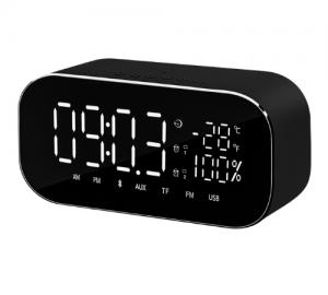 Akai ABTS-S2.Ξυπνητήρι-ηχείο Bluetooth Aux.Micro-SD,Ράδιο-USB-6W.