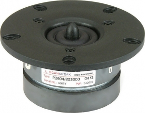 Scanspeak R2604/833000 Ring Dome Tweeter 91,93db 4 Ohm