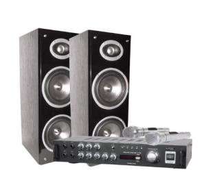Ltc Audio -STAR3 συστημα Καραοκε με Ενισχυτη 2 μικροφωνα 2 ηχεια USB-BT.