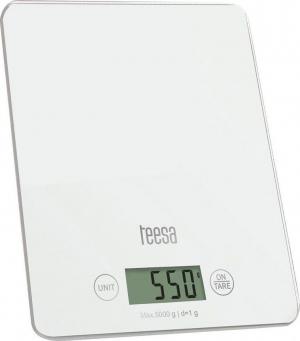 Teesa TSA0804 White.Ζυγαριά Κουζίνας Λευκή με Γυαλί