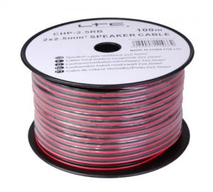 CHP4RB.Καλώδιο μεγαφώνων κόκκινο και μαύρο 100 μέτρα.2x4 mm