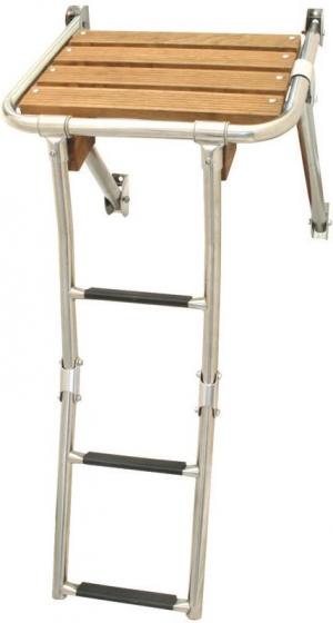 Πλατφόρμα με αναδιπλούμενη σκάλα inox 316