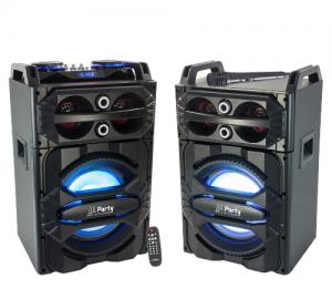 Party SPEAKY700 Ηχοσύστημα με usb-bluetooth-fm tuner & μικρόφωνο(ζεύγος)