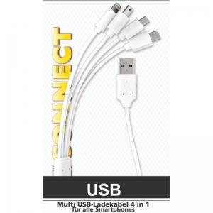 Heitech 09004092 Αντάπτορας 4 σε 1 USB σε USB Type C / micro USB / mini USB / Lightning