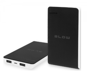 BLOW POWERBANK 8000MAH 2XUSB PB13 ΜΑΥΡΟ