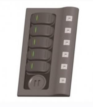 Πίνακας LED 5 θέσεων και USB