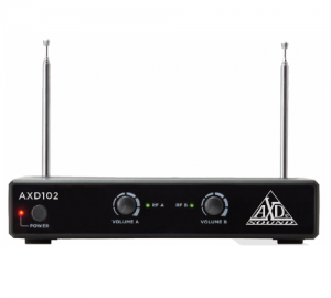 AXD-102 Ασύρματο Μικροφωνικό σύστημα VHF με 2 μικρόφωνα κεφαλής.