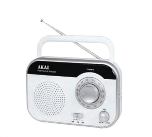 AKAI PR003A-410W  ΑΝΑΛΟΓΙΚΟ ΦΟΡΗΤΟ RADIO AM / FM 1W