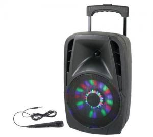 Party 8LED Φορητό αυτόνομο ηχοσύστημα Usb/bluetooth karaoke 8''/20cm - 300W