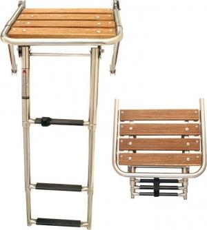 Πλατφόρμα με πτυσσόμενη σκάλα inox 316 [45cm x 39cm]