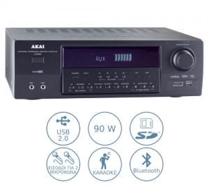 Akai AS110RA-320 ραδιοενισχυτής με usb/card