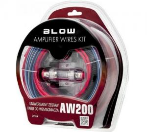 Blow AW-200. Σετ καλωδίων ενισχυτή αυτ/του.8AWG.