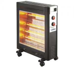Osio H-5209B Θερμάστρα Χαλαζία Με 4 Λάμπες, Θερμοστάτη & Ρόδες 2400W