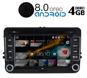 Digital IQ IQ-AN8004 GPS, 7'' για όλα τα VW από το 2004 εώς 2014 με Android 8.1 Quad core 1.6Ghz DDR3 – 2GB Ram