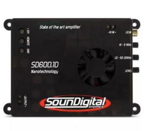 Soundigital SD 600.1D Ενισχυτής Μινι 1Ω: 600 W RMS