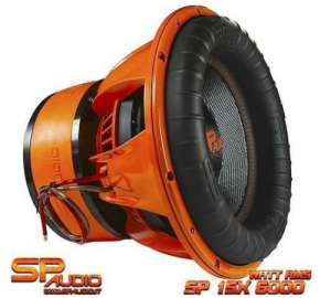 SP Audio sp 15x extreme Subwoofer 15''38cm.6000WATT RMS 4Ohm.2+2Ohm.