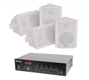 Adastra DM40 Σύστημα 4 Επιτοίχιων Ηχείων Με Ενισχυτή Με USB/FM Και Bluetooth