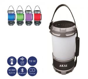 Akai ABTS-S38 φορητό ηχείο bluetooth, led φανάρι, powerbank 19w