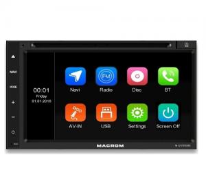 Macrom M-DVD5000.Σύστημα πλοήγησης6.8'' οθόνη αφής, Bluetooth cd/usb/