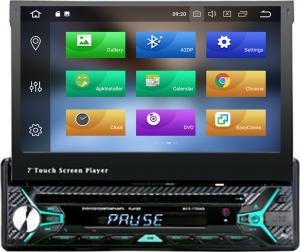 Beltec Audio BLA.UNI.1.70  Aναδιπλουμενη 1 Din Οθόνη 7'' με Android 9 Pie DVD,Gps,BT
