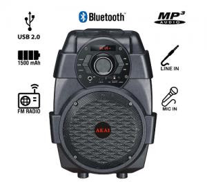 Akai Abts-806 φορητό ηχείο bleutooth με usb 10w