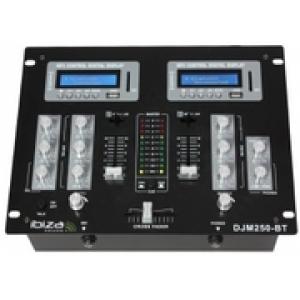 IBIZA DJM250BT Μίκτης Ήχου 2 Καναλιών 4 εισόδων με 2 x USB, 2 x SD και 2 x BLUETOOTH Receivers
