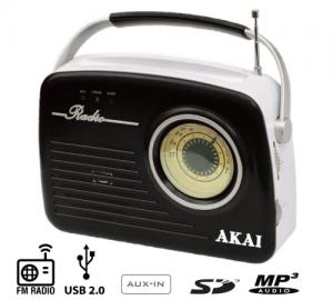 AKAI APR-11B ΦΟΡΗΤΟ ΡΑΔΙΟΦΩΝΟ ΜΕ USB,SD ΚΑΙ AUX