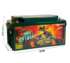 SP Audio.AGM Battery100Ah.